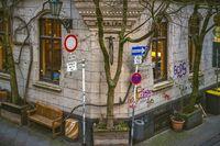 Street corner at the restaurant Katzengold
