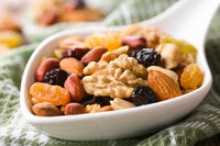 Trail Mix Snack of Nuts and Dried Fruits