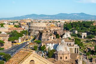 Colosseum and basilica