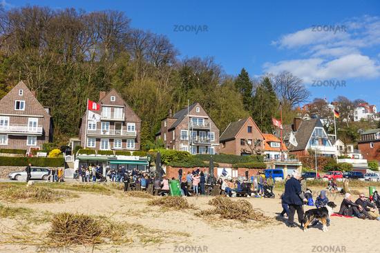 On the Elbe beach in Blankenese, Hamburg