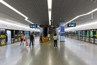 Shanghai Hongqiao Railway MRT Metro Station in China
