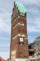 The wedding tower as a landmark in Darmstadt