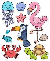 Summer animals theme set 1