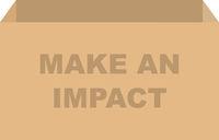 Make An Impact Donation Box Vector