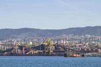 Hafenanlagen  in Triest