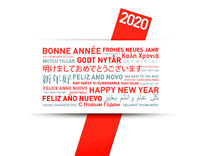 Happy new year greetings card from the world