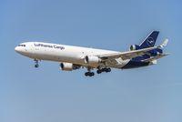 Cargo aircraft of Lufthansa with new logo