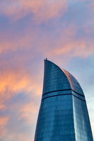 Icheri Flame Towers at sunset,