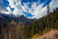 The Rocky Mountains in British Columbia on an autumn day