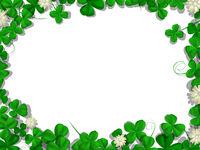 Saint Patricks day rectangular frame