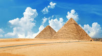 View of the pyramids