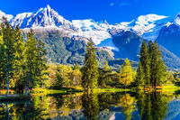 The mountain resort of Chamonix