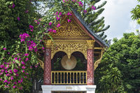 Drum Tower, Temple Wat Sen Soukharam, Luang Prabang, Laos
