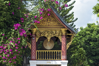 Trommelturm (Drum tower), Tempel Wat Sen Soukharam, Luang Prabang, Laos