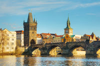 The Old Town with Charles bridge tower in Prague