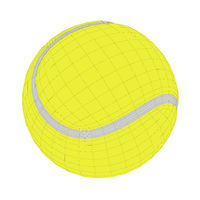 3D wire-frame model of tennis ball