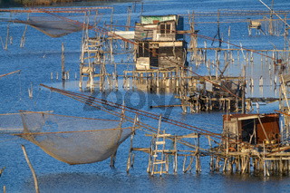 Traditional fishing nets in Montenegro