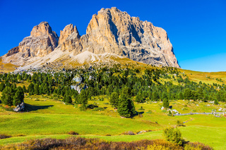 The Sella Pass in the Dolomites