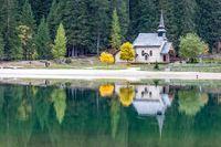 Small chapel at Braies Lake