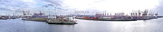 Container Port Hamburg Panorama