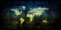 Dark Grunge World Map