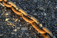 Rusty anchor chain