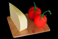 Wedge Smocked Gouda Cheese and Organic Tomatoes
