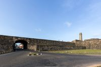 Clock Tower and City Wall at Galle Fort, Sri Lanka