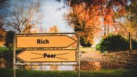 Street Sign Rich versus Poor