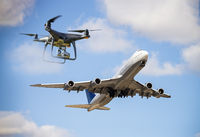 Danger by drones in air traffic