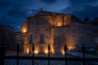 Sveta Sofija old church in Ohrid at night