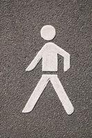 Pedestrian pictogram symbol road marking