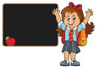 Happy pupil girl theme image 5
