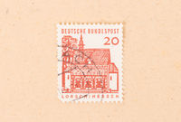GERMANY - CIRCA 1970: A stamp printed in Germany shows Lorsch Hessen, circa 1970
