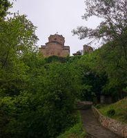 Exterior view to Saint Pantelejmon and Saint Kliment Church , Ohrid, North Macedonia