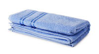 Blue towel isolated