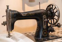 old nostalgic sewing machine - closeup tailoring