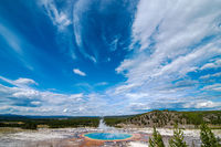 The World Famous Grand Prismatic Spring in Yellowstone National Park