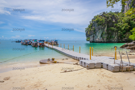 Pier with boats, Thailand