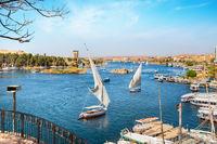 Aswan and boats