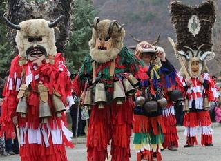 Masquerade festival Surva in Zemen, Bulgaria