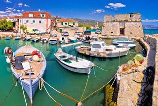 Kastel Stafilic landmarks and turquoise sea view