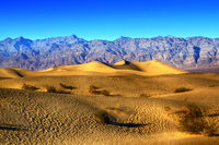 Ripples And Mountain Peaks. Death Valley National Park, California