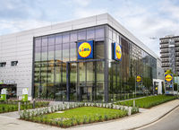 Branch of the discounter Lidl in Frankfurt