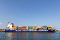 Container cargo ship at Copenhagen Port