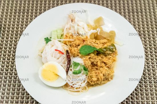 Thai Rice Noodles crab meat