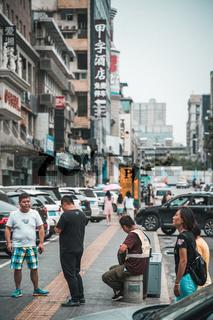 Street scene in the city of Xian