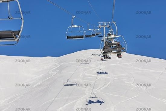 Ski lift at a ski resort