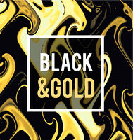 Gold jewelry on a black background. Vector illustration in black on gold style.