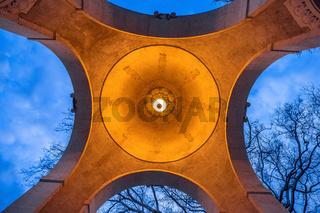 Vienna Stadtpark pavilion arches evening view